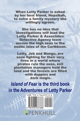 Island of Fear back cover